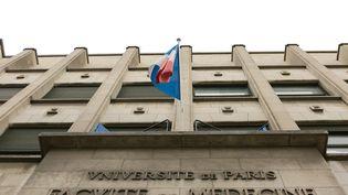 L'entrée de l'Université Paris-Descartes, à Paris, le 18 septembre 2020. (MAXPPP)