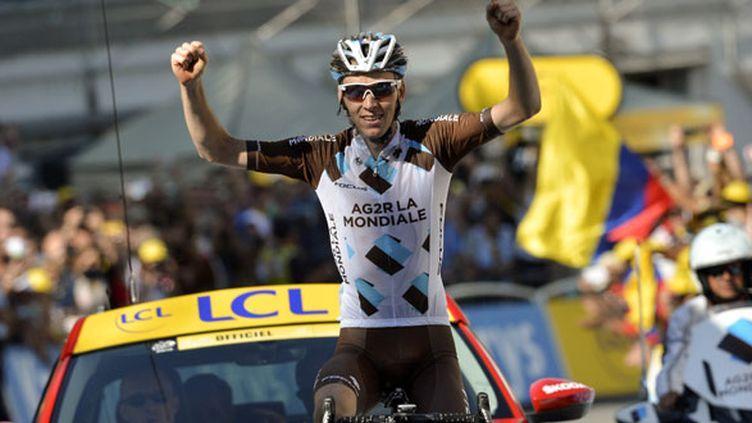 Le coureur français Romain Bardet (AG2R) s'est imposé en solitaire à Saint-Jean-de-Maurienne
