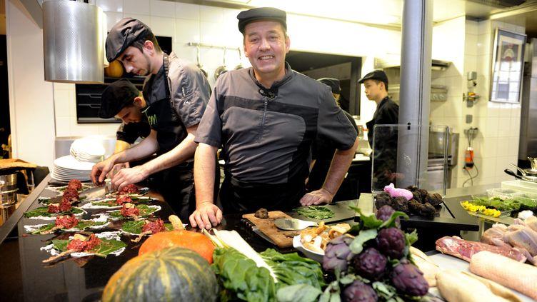 """Thierry Merville, chef cuisinier de """"La Table des Merville"""" a accroché une étoile au Michelin en février 2016 (MAXPPP)"""