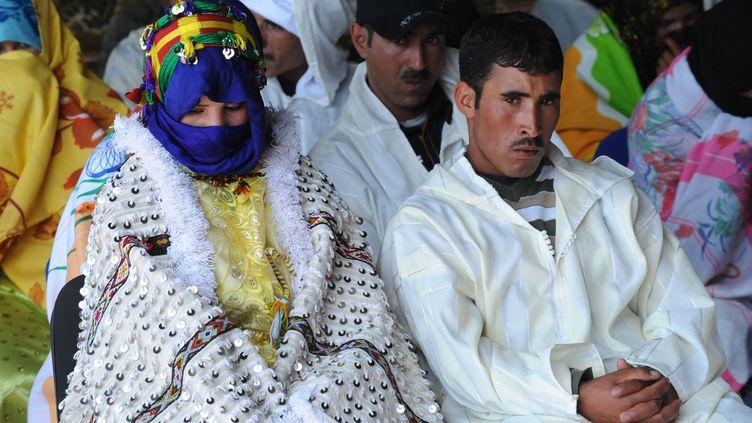 Mariage berbère dans un village d'Imilchil, dans le Haut Atlas en 2010. (ABDELHAK SENNA / AFP)