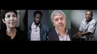 Les quatre finalistes du Goncourt 2021 : Christine Angot, Mohamed Mbougar Sarr, Sorj Chalandon et Louis-Philippe Dalembert (JOEL SAGET / AFP)