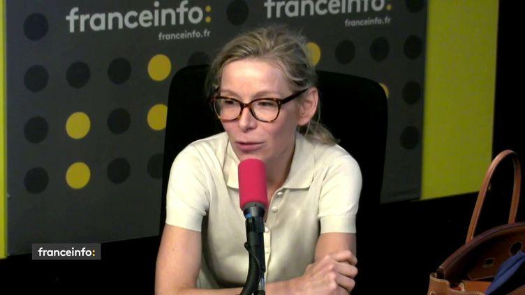 Céline Lis-Raoux, co-fondatrice et directrice générale de RoseUp Association, directrice de la rédaction de Rose Magazine. (FRANCEINFO)