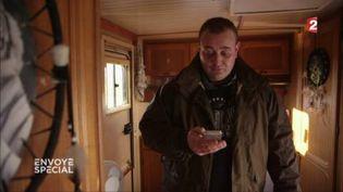 Nicolas, SDF, a lancé un appel à l'aide sur Facebook. (FRANCE 2 / FRANCETV INFO)