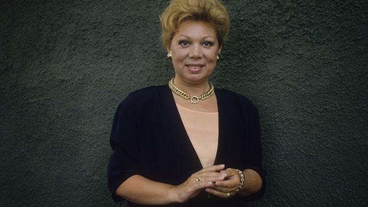 La soprano Mirella Freni en 1990 à Ariccia, en Italie (MARCELLO MENCARINI / LEEMAGE / AFP)