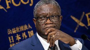 Le Dr Denis Mukwege, Prix Nobel de la paix lors d'une conférence à Tokyo, au Japon, en octobre 2019. (ALESSANDRO DI CIOMMO / NURPHOTO)