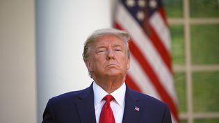 Le président américain Donald Trump le 30 mars 2020 à la Maison Blanche (Washington) lors d'un point presse sur le coronavirus. (MANDEL NGAN / AFP)