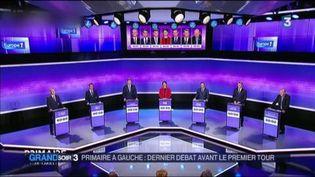 Le troisième débat de la primaire de la gauche a été plus animé. (FRANCE 3)