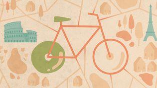 Le vélo a pris son envol dans les grandes villes de l'Union européenne en 2020. (ELLEN LOZON / FRANCEINFO)