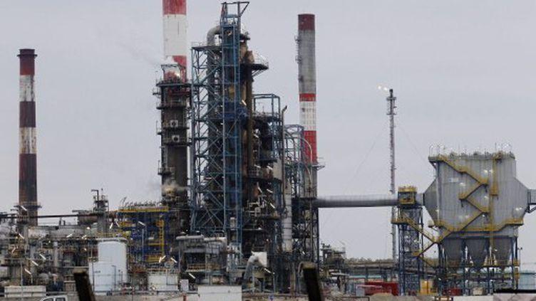Le pétrole, une industrie polluante (ici la raffinerie de Grandpuits en Seine-et-Marne) (AFP PHOTO FRANCOIS GUILLOT)