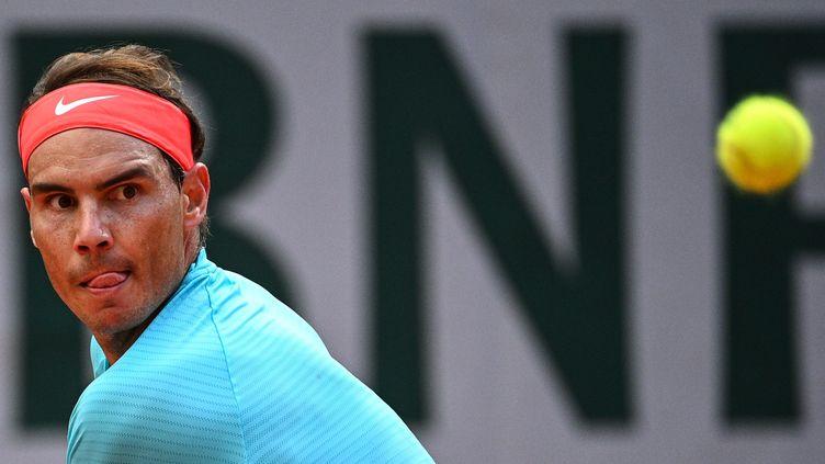 Rafael Nadal le 9 octobre 2020. (ANNE-CHRISTINE POUJOULAT / AFP)