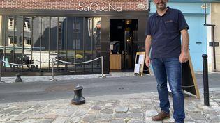 Alexandre Bourdas, chef au restaurant SaQuaNa à Honfleur (Calvados). (MAXPPP)