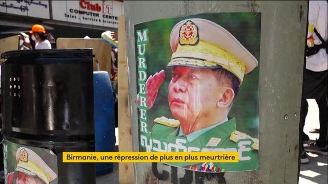 Birmanie : manifestations et répression meurtrière
