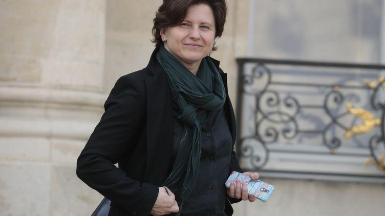 La ministre des SportsRoxana Maracineanu à l'Elysée, le 20 février 2019. (LUDOVIC MARIN / AFP)