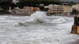 Un épisode méditerranéen avait déjà touché le département du Var fin octobre, ici à la Seyne-sur-Mer, le 23 octobre 2019. (MAXPPP)