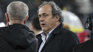 Michel Platini assiste à un match à Turin (Italie), le 27 mai 2019. (MASSIMILIANO FERRARO / NURPHOTO / AFP)