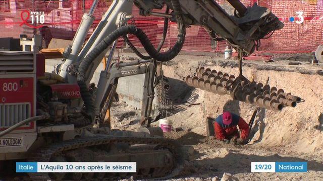 Italie : la difficile reconstruction de L'Aquila, dix ans après le séisme meurtrier