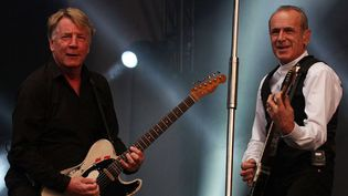 Rick Parfitt et Francis Rossi (Status Quo) au BBC Radio 2 Live à Hyde Park, à Londres (9/9/2012)  (Rex Features / SIPA)