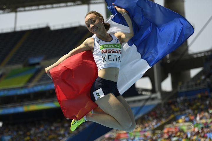 Nantenin Keita décroche l'or aux Jeux paralympiques de Rio.  (CHRISTOPHE SIMON / AFP)