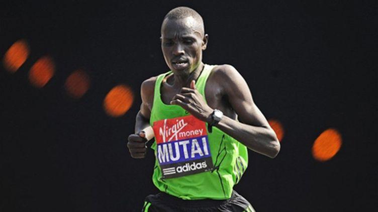Geoffrey Mutai au marathon de Boston