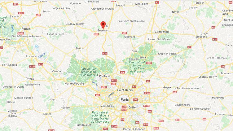 Beauvais (Oise). (CAPTURE D'ECRAN GOOGLE MAPS)