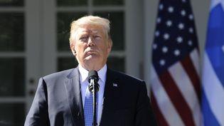 Le président américain, Donald Trump, à la Maison Blanche à Washington (Etats-Unis), le 17 octobre 2017. (JASON CONNOLLY / AFP)