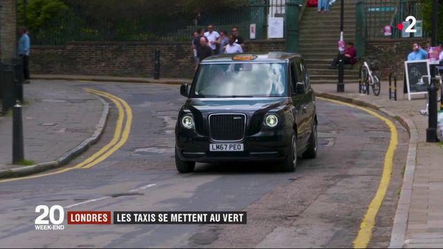 Londres : les taxis se mettent au vert