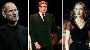 """Steve Jobs (7 juin 2010), Yves Saint-Laurent (3 février 1992), Grace Kelly dans """"Fenêtre sur cour"""" (1954)  (AFP / Justin Sullivan & Getty / Pierre Guillaud / Photo12)"""