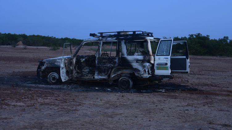 Les humanitaires français partaient en week-end quand ils ont été attaqués, dimanche 9 août 2020 au Niger. (BOUREIMA HAMA / AFP)