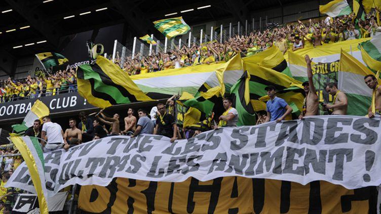 Les Ultras nantais de la Brigade Loire (DAMIEN MEYER / AFP)