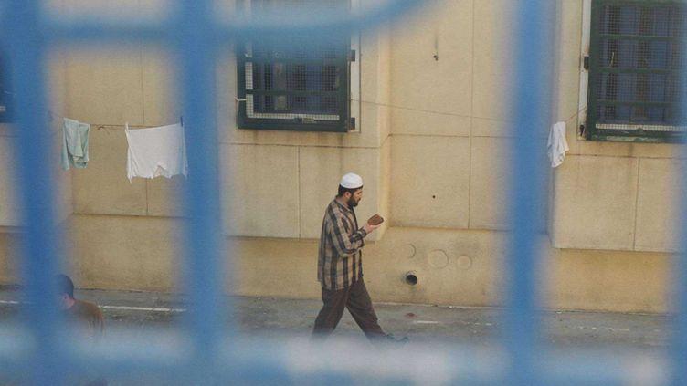 Un détenu au centre de détention de Hadarim dans le centre d'Israël. (CIA IMAGES / SIPA)