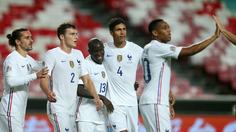 N'Golo Kanté a inscrit son deuxième but en sélection (MANUEL DE ALMEIDA / LUSA)