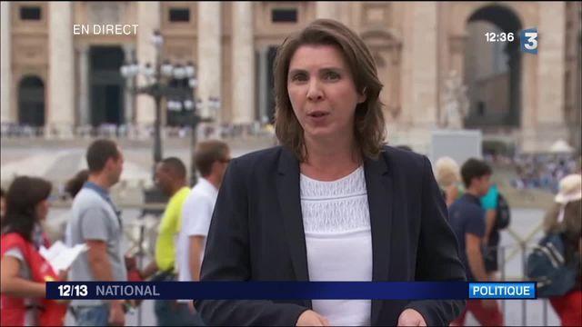 """François Hollande au Vatican : """"ambiance plus chaleureuse"""""""