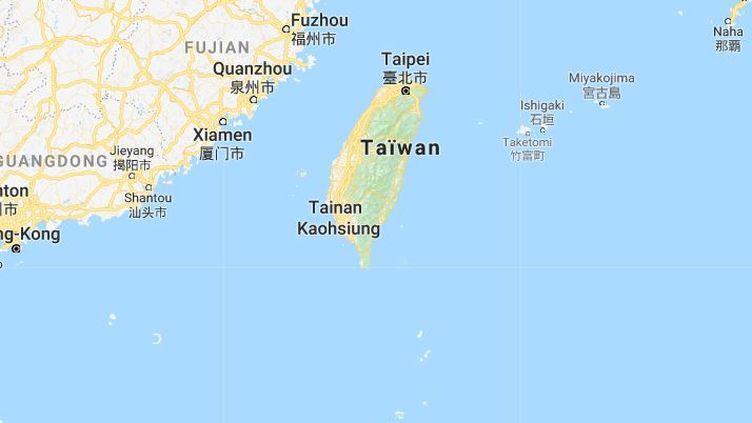 Capture écran de la carte de Taiwan, mardi 6 février 2018. (GOOGLE MAPS)
