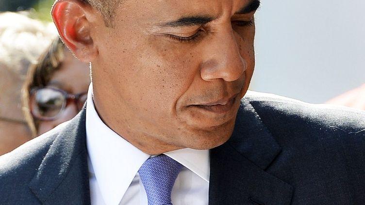 Barack Obama, le président américain, le 1er octobre 2013 à Washington (Etats-Unis). (JEWEL SAMAD / AFP)