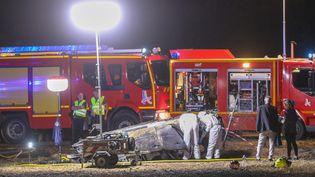 Lundi 20 juillet, cinqenfants ont perdu la vie sur une sortie de route sur l'autoroute A7 au niveau d'Albon dans la Drôme. (FABRICE HEBRARD / MAXPPP)