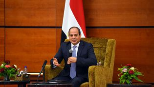 Le président égyptien,Abdel Fattah al-Sissi, lors d'une visite à Khartoum (Soudan), le 20 juillet 2018. (EGYPTIAN PRESIDENCY / AFP)