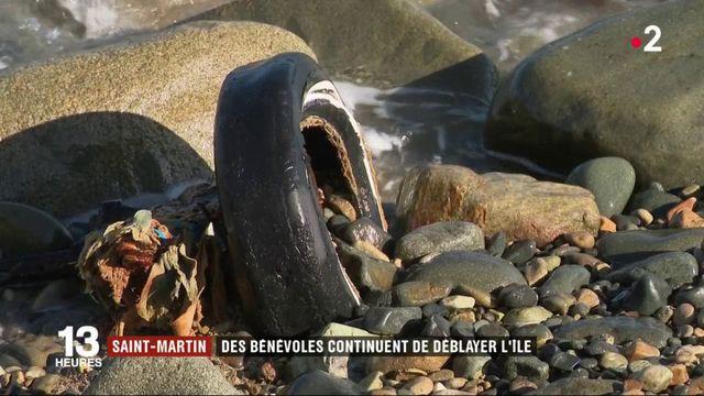 Saint-Martin : des bénévoles continuent de déblayer l'île