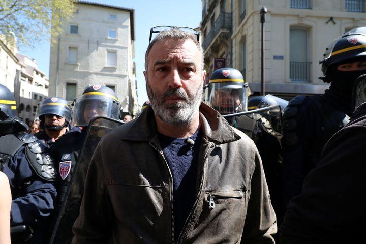 """Le """"gilet jaune"""" Christophe Chalençon, lors d'une manifestation des """"gilets jaunes"""" à Avignon (Vaucluse), le 30 mars 2019. (MAXPPP)"""
