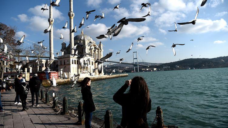 Sur les bords du Bosphore, à Istanbul (Turquie), le 2 janvier 2017. (OZAN KOSE / AFP)
