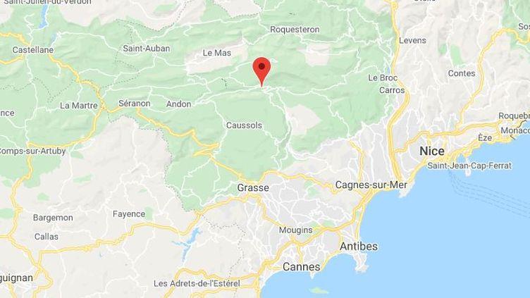 La commune deGréolières dans les Alpes-Maritimes. (GOOGLE MAPS / FRANCETV INFO)