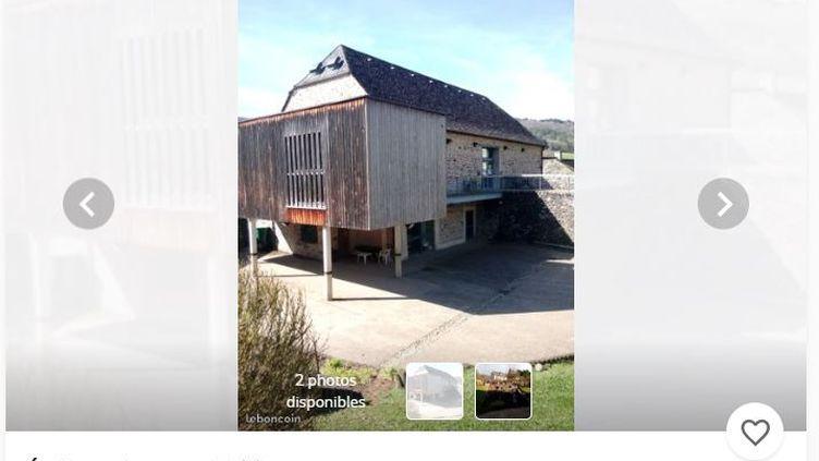 La petite annonce en ligne propose à la vente l'école deMonceaux-sur-Dordogne en Corrèze (CAPTURE D'ECRAN / LE BON COIN)