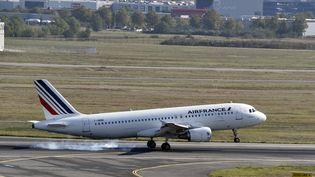 Un avion de la compagnie Air-France décolle à l'aéroport de Toulouse-Blagnac, le 29 septembre 2014. (PASCAL PAVANI / AFP)