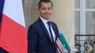 Le ministre des Comptes publics, Gérald Darmanin, le 21 août au palais de l'Elysée. (LUDOVIC MARIN / AFP)