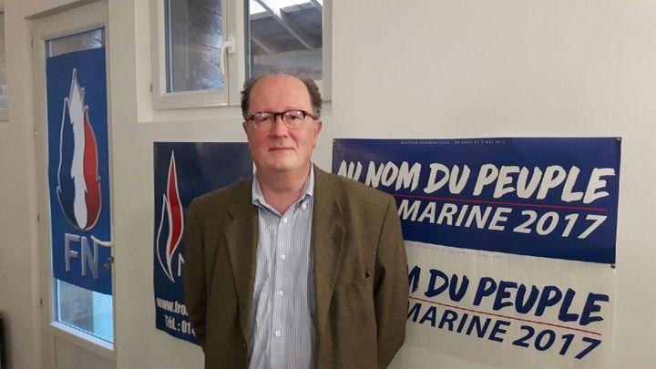 Pascal Gannat, candidat FN dans la Sarthe. (JÉRÔME JADOT / FRANCEINFO)