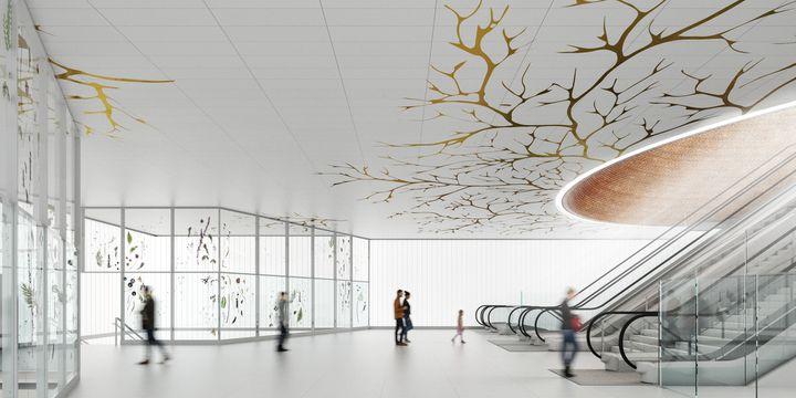 """""""Empreinte"""", projet de Duy Anh Nhan Duc pour la gare de La Courneuve  (CHARTIER DALIX)"""