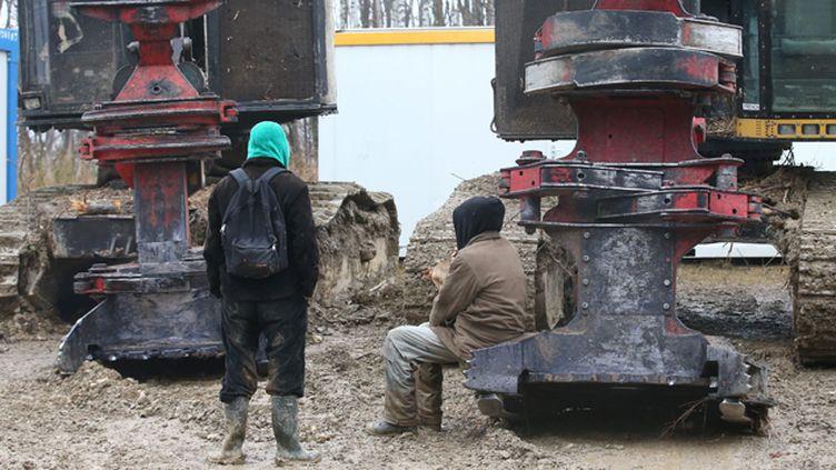 (La justice a suspendu mardi les travaux de défrichement à Roybon, en Isère, où doit être implanté un Center Parcs © Maxppp)