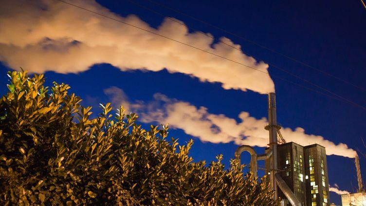 Cheminées d'une usine à Tartas (Landes). (LOIC VENANCE / AFP)