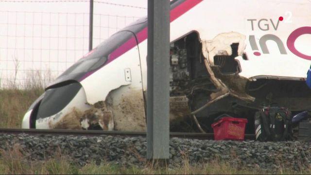 Glissement de terrain : un TGV déraille