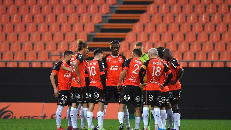 La rencontre Lorient - Dijon reportée, après la détection de douze cas de Covid-19 chez les Bretons. (LOIC VENANCE / AFP)