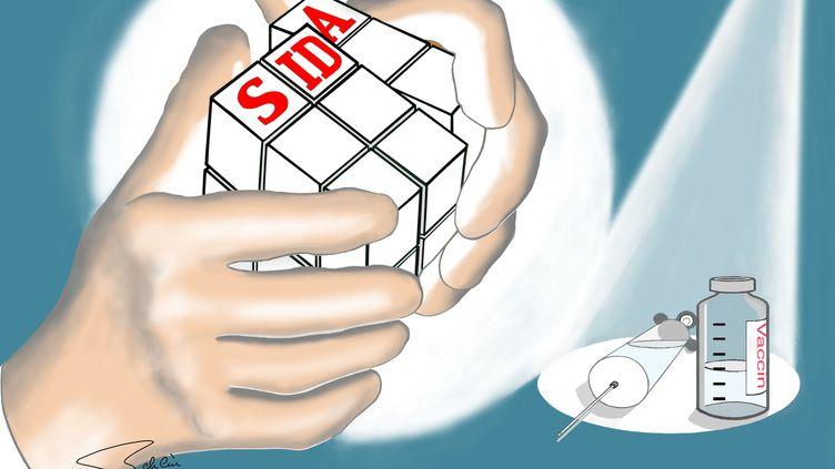 Les recherches sur le vaccin contre le sida avancent. Image d'illustration. (BSIP / UNIVERSAL IMAGES GROUP EDITORIAL)